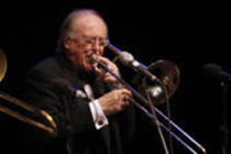 Britischer Posaunist Chris Barber gastiert mit der Big Jazz and Blues Band in der Philharmonie Köln (© Thomas Brill)