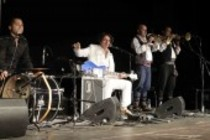 Jugoslawische Balkan-Pop-Band Goran Bregovic And His Wedding and Funeral Band gastiert auf ihrer