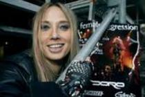 Deutsche Thrash-Metal-Sängerin Sabina Classen beim Internationaler Kongress